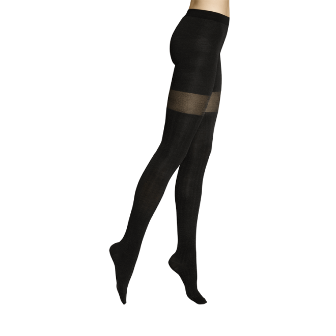 Cashmere Tights - schwarz