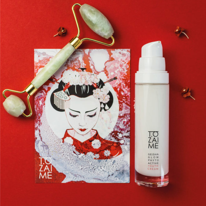 Geisha Glow Youth Cream Set mit Jaderoller